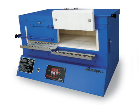 Paragon BlueBird XL Kiln With A Sentry Xpress Programmer For Glass-Bead Annealing.