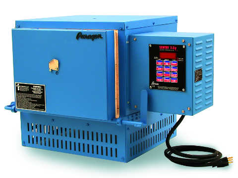 Paragon HT14 Heat Treating And Glass Furnace With A Sentry Digital Controller.