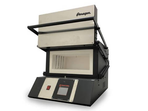 Paragon KM9T XL Double Barrel Pro Knife-Making Kiln With A Sentinel Controller.