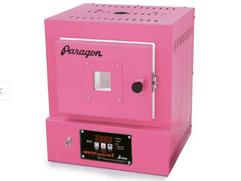 Paragon SC2W Window Pink Enamelling Kiln With A Sentry Xpress Programmer.