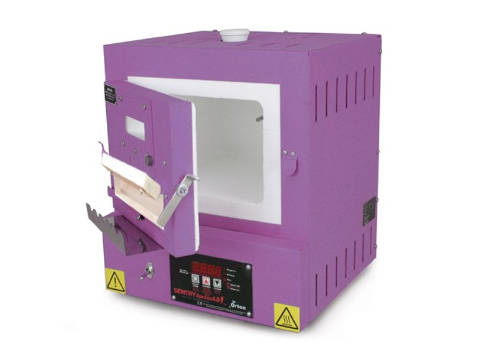 Paragon SC2BW Bead-Door Window Purple Jewellery Kiln With A Sentry Xpress Programmer.