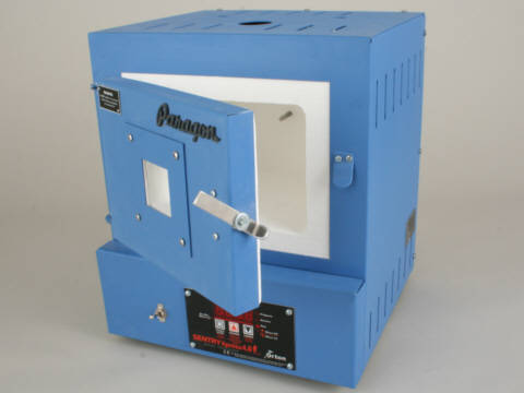 Paragon SC2W Window Blue Enamelling Kiln With A Sentry Xpress Programmer.