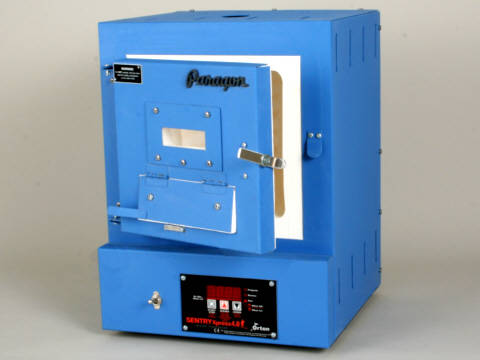 Paragon SC3BW Kiln With A Bead-Door, Window, And Sentry Xpress Programmer For Beads, Enamels, And Fusing.