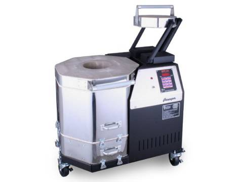 Paragon Vulcan Mobile Ceramics And Glass Crucible Kiln With A Sentry Programmer.